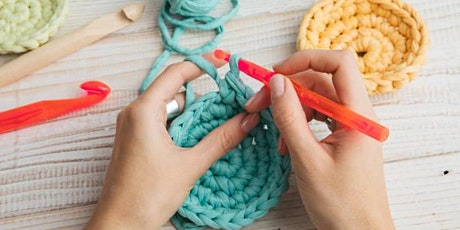 Learn to Upcycle. Funky Crochet Coasters from T-Shirts tickets