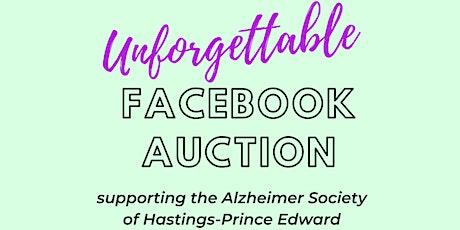 Unforgettable Facebook Auction for Alzheimer's tickets