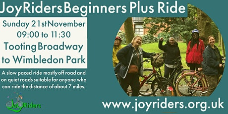 Beginners Plus Ride Tooting Broadway to Wimbledon Park tickets