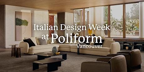 Italian Design Week @ Poliform Vancouver tickets