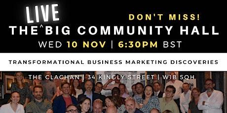Business Marketing Club Big Community Hall tickets