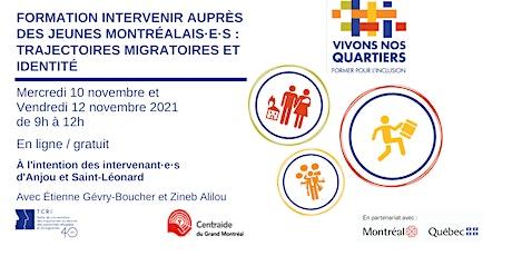 Intervenir auprès des jeunes (migration et identité) 2 et 4 novembre 2021 tickets