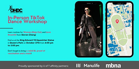 OHDC Special Workshop 1: TikTok Dance Routines (In-Person) tickets