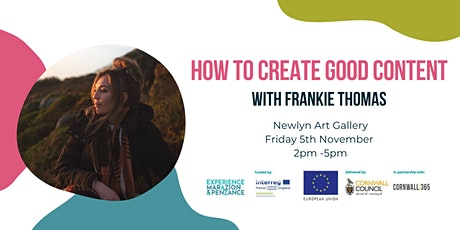 How to Create Good Content with Frankie Thomas tickets
