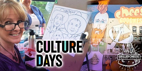 Free Caricature Drawing, courtesy of the City of Barrie and Culture Days tickets
