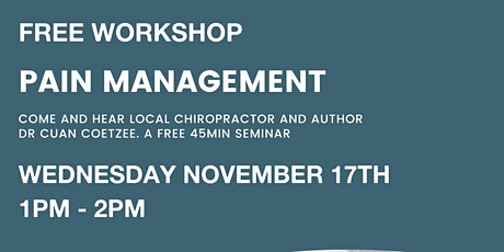 Pain Management Seminar tickets