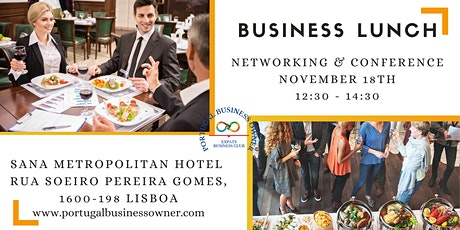 Business Lunch, Conference and Networking bilhetes