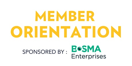 2021 Member Orientation tickets