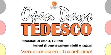 Open days TEDESCO @EDUPLANET biglietti