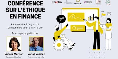Conférence : l'éthique en finance tickets