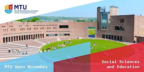 MTU Open November: Social Sciences and Education tickets
