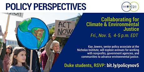 Policy Perspectives: Collaborating for Climate and Environmental Justice tickets