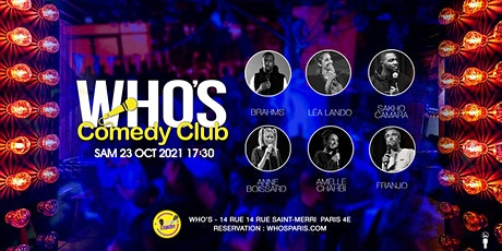 Who's Comedy ? Franjo , Amelle Chahbi and friends ! billets
