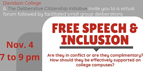 Free Speech & Inclusion Forum tickets