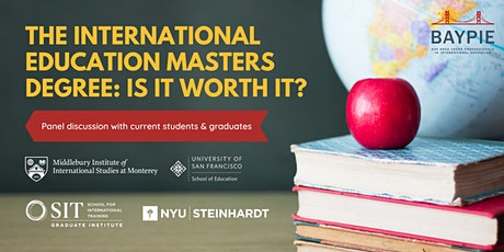 The International Education Masters Degree: Is it worth it? tickets