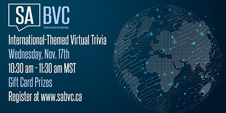 SABVC International Week Virtual Trivia tickets