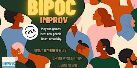 BIPOC Improv Jam - Online tickets