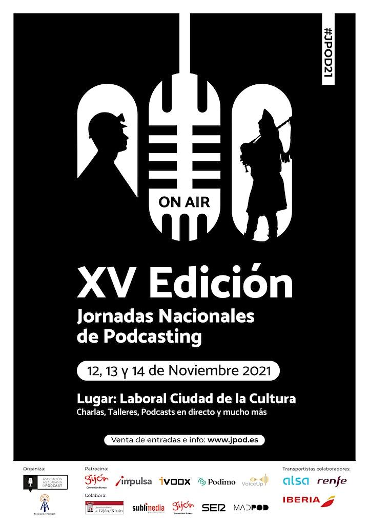 Imagen de XV ed. Jornadas Nacionales de Podcasting en Gijón - #JPOD21