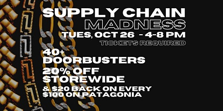 SUPPLY CHAIN MADNESS SALE tickets