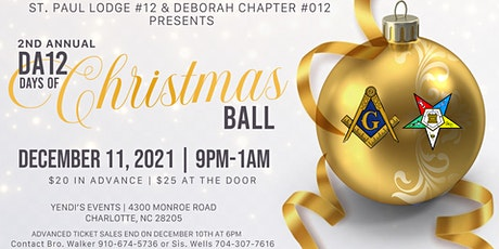 2nd Annual DA12 Days of Christmas Ball tickets