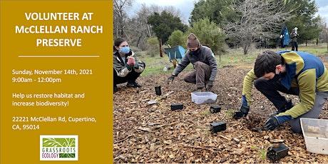 Nurture Nature: Volunteer in Cupertino at McClellan Ranch Preserve tickets