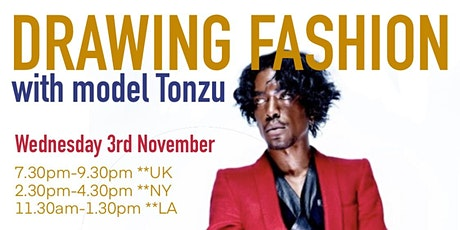 DRAWING FASHION ** Wednesdays** Zoom only tickets