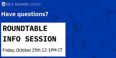 RAEI Roundtable Application Info Session