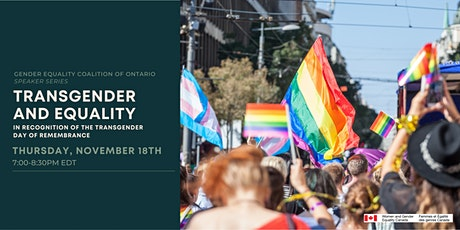 Transgender and Equality tickets