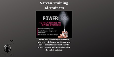 Virtual Narcan Training of Trainers tickets