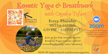 Copy of Kemetic Yoga: Breathwork & Sun Salutations with Onyeka Tefari billets