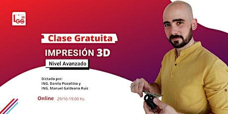 Clase Gratuita de Impresión 3d Nivel Avanzado 100% Online entradas
