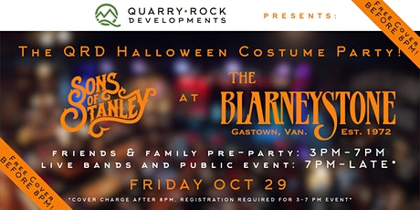 QRD Halloween Costume Party with Sons of Stanley @ The Blarney Stone! tickets