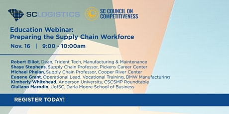 SC Logistics Education Webinar: Preparing the Supply Chain Workforce tickets