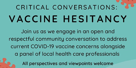 COVID-19 Vaccine Hesitancy Community Discussion tickets