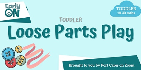 Toddler Loose Parts Play - Building Spider Web tickets