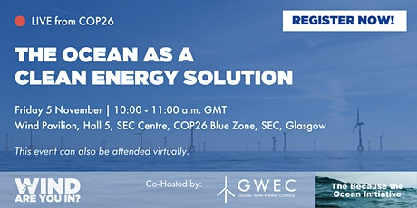 The Ocean as a Clean Energy Solution tickets