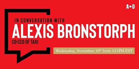 In Conversation with... Alexis Bronstorph tickets