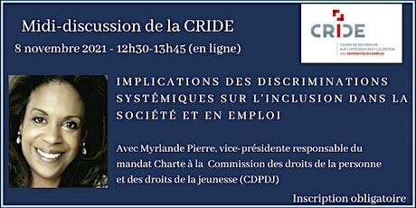 Midi-discussion de la CRIDE billets
