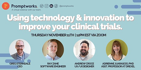 Webinar: Using Technology & Innovation to Improve Your Clinical Trials tickets