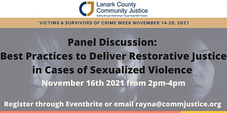 Best Practices to Deliver Restorative Justice  in Cases of Sexual Violence tickets