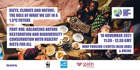 Part 1. Diets, Climate & Nature: The role of what we eat in a 1.5oC future tickets