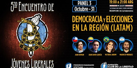PANEL 3  - DEMOCRACIA Y ELECCIONES EN LA REGIÓN- ENCUENTRO DE JOVENES entradas