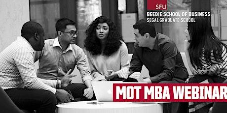 Management of Technology MBA Webinar tickets