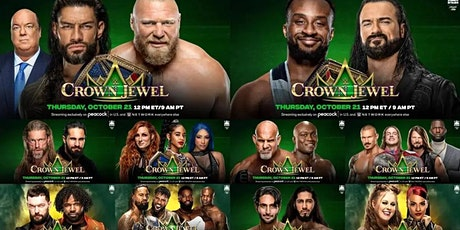StREAMS@>! (LIVE)-WWE CROWN JEWEL Fight LIVE ON FrEE 21 Oct 2021 tickets