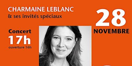 Concert Charmaine Novembre 2021 billets