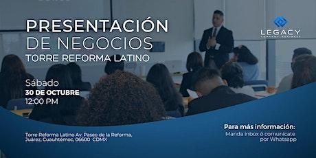 Presentación de negocios Legacy CB,  30 de Octubre (Sesión 12:00 PM) tickets