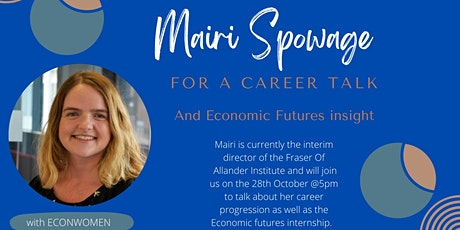 Career Talk with Mairi Spowage tickets