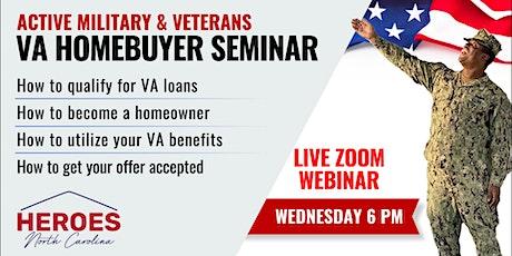 North Carolina Active Military & Veterans VA Homebuyer Webinar tickets