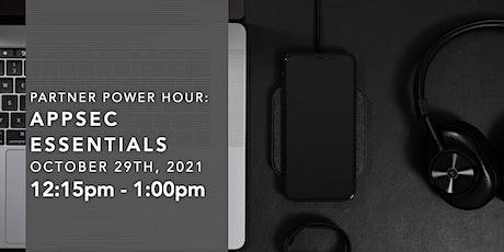 Partner Power Hour: AppSec Essentials tickets