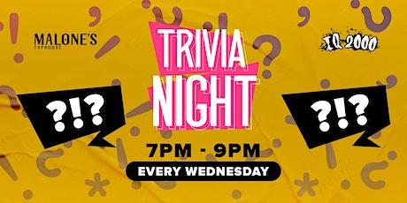 Wednesdays Trivia Night @ Malone's Taphouse tickets